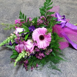Purple and Pink Presentation Bouquet
