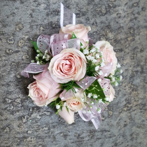 Light Pink Wrist Corsage