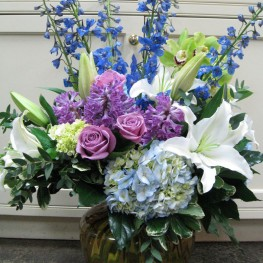 Lilies and Delphinium